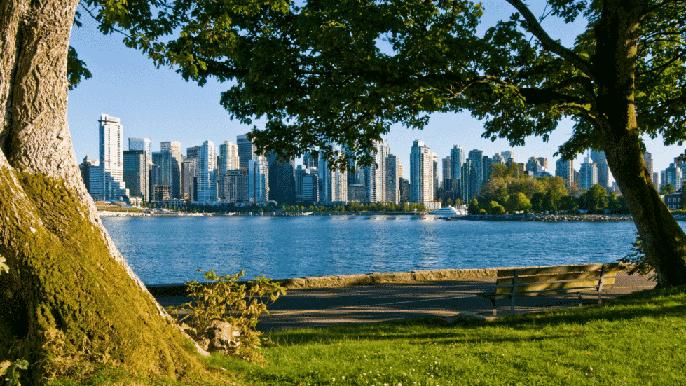 Summer in Vancouver view